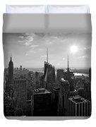 Ny Times Skyline Bw Duvet Cover