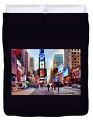 Ny Times Square Impressions IIi Duvet Cover