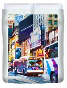 Ny Times Square Impressions Iv Duvet Cover