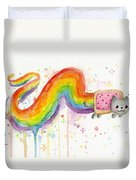 Nyan Cat Watercolor Duvet Cover
