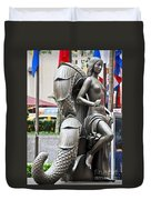 Nyc - Manhattan - Rockefeller Center - First Human Maiden Made F Duvet Cover