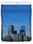 Nyc Financial District Duvet Cover