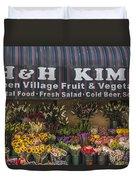 Nyc Flower Shop Duvet Cover