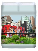 Nyc-high Line Billboard Art Duvet Cover