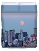 Nyc Pastel Supermoon Duvet Cover