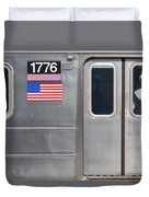 Nyc Subway Car 1776 Duvet Cover by Jannis Werner