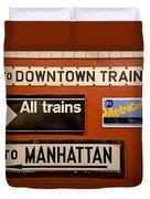 Nyc Subway Signs Duvet Cover