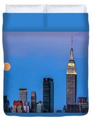 Nyc Under The Supermoon Duvet Cover