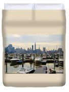 Nyc View From Lincoln Harbor Weehawkin Nj Duvet Cover
