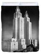 Nyc Waldorf-astoria Hotel Duvet Cover