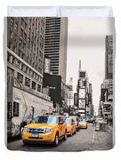 Nyc Yellow Cabs Duvet Cover
