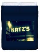Nyc's Famous Katz's Deli Duvet Cover