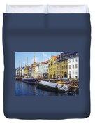 Nyhavn Boat Docks Duvet Cover