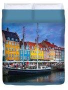 Nyhavn Canal Duvet Cover