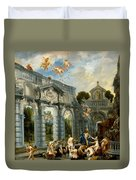Nymphs At The Fountain Of Love Duvet Cover