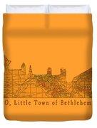 O Little Town Of Bethlehem Duvet Cover