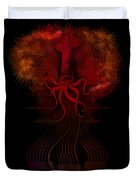 O Mighty Kraken Do Not Steal Our Dreams Duvet Cover by John Magnet Bell