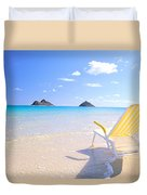 Oahu Lanikai Beach Duvet Cover
