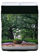 Oak Alley Courtyard Duvet Cover