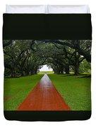 Oak Alley Path Duvet Cover