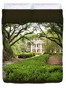 New Orleans Oak Alley Plantation Duvet Cover