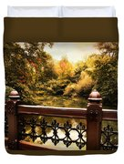Oak Bridge Autumn Duvet Cover