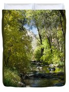 Oak Creek Canyon Creek Arizona Duvet Cover