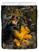 Oak Leaf And Acorn In Autumn Duvet Cover