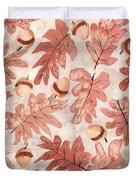 Oak Leaves And Acorns Duvet Cover