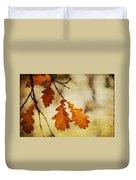 Oak Leaves At Autumn Duvet Cover