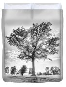 Oak Tree Bw Duvet Cover