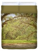 Oak Trees Draped With Spanish Moss Duvet Cover