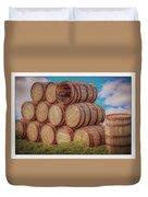 Oak Wine Barrels Duvet Cover
