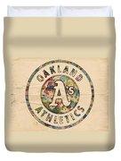 Oakland Athletics Poster Vintage Duvet Cover