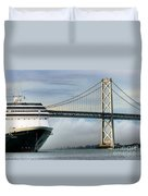 Oakland Bay Bridge  Duvet Cover