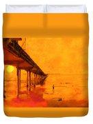 Ob Sunset Duvet Cover