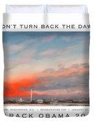 Obama Campaign Poster 2012 Duvet Cover
