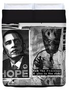 Obama Election Poster Duvet Cover