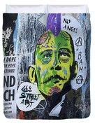 Obama The Grinch Duvet Cover