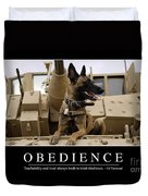 Obedience Inspirational Quote Duvet Cover