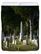 Obelisk And Headstones Duvet Cover