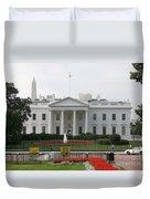 Obelisk And White House Duvet Cover