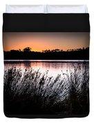 Obidos Lagoon Sunrise Duvet Cover