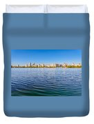 Obolon Skyline Close To The Dnieper River In Kiev Duvet Cover