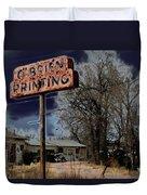 Obrien Printing Duvet Cover
