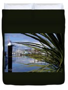 Obscured View Of Percival Landing Duvet Cover