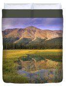 Observation Peak And Coniferous Forest Duvet Cover