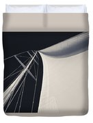 Obsession Sails 3 Black And White Duvet Cover