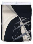 Obsession Sails 5 Black And White Duvet Cover