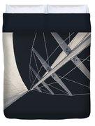 Obsession Sails 7 Black And White Duvet Cover